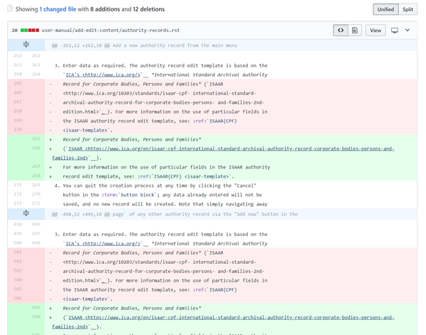 An image of the GitHub diff summary